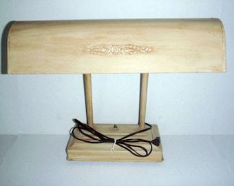 Vintage fluorescent desk lamp ivory