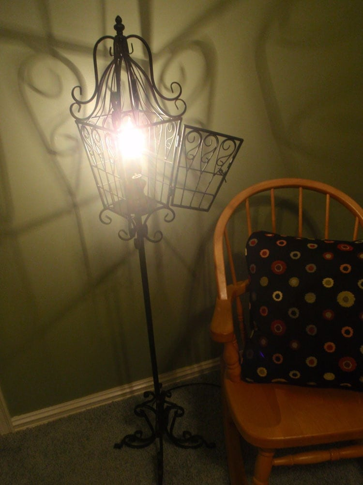 Anthropologie inspired black bird cage floor lamp by ...