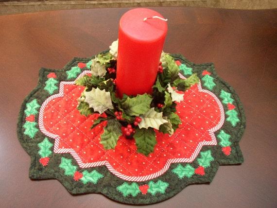 Christmas Holly Table Mat