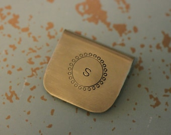 BOOKMARK CUSTOM- Hand Stamped Metal - initial - personalized