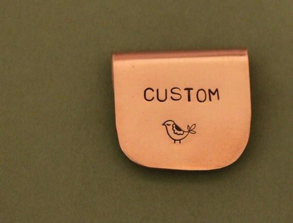 Hand Stamped Metal Bookmark - custom order for CorvetteKristy