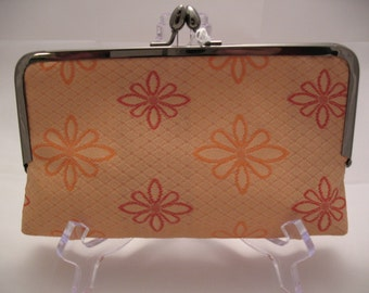 Fabric Clutch Orange Flower