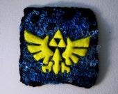 Legend of Zelda Triforce (felted mini wall hanging)