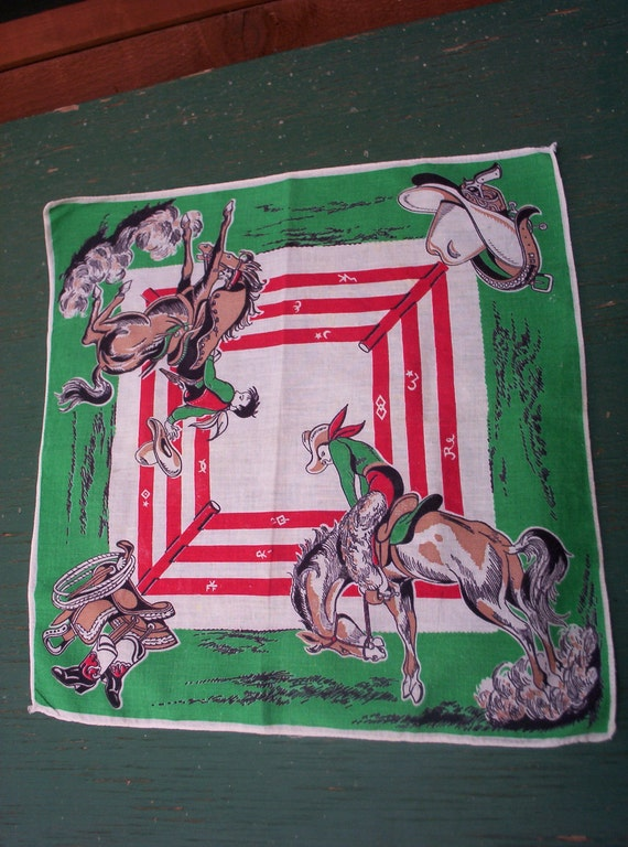 Cowboy,  Western Themed Hanky - Free Shipping USA