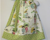 Michael Miller China Doll Pillow Case Dress  with Side Bow