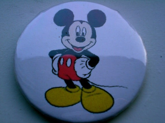 Mickey Mouse  Pinback button, magnet, or compact mirror