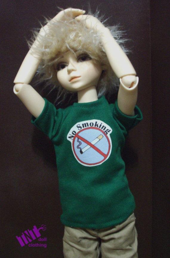 Green No Smoking 45cm BJD Shirt