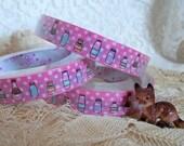 Pink Polka Dot Bottles Deco Tape