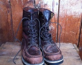 VIntage FILSON Uplander Boots,Brown Leather, 9 D