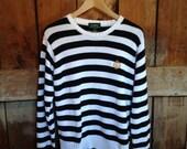 Vintage Ralph Lauren Nautical Striped Knit Sweater, Ladies S
