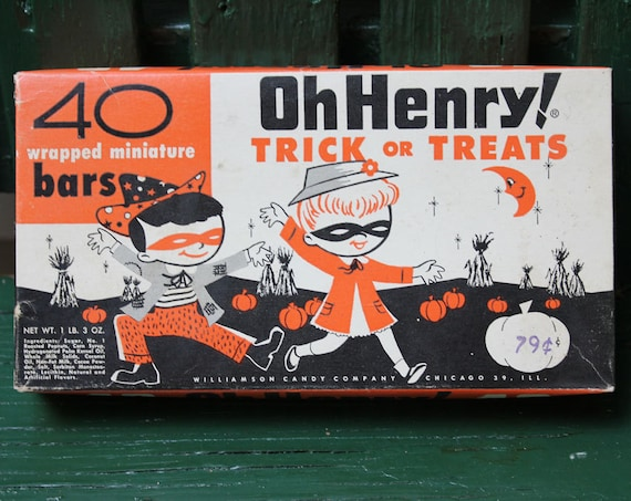 Oh Henry Candy Bar Vintage Halloween Candy Box