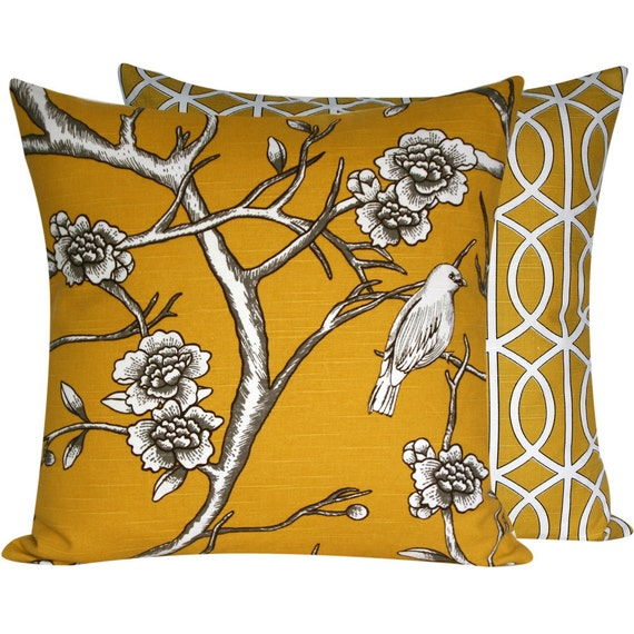 Yellow Bird Throw Pillows : 301 Moved Permanently