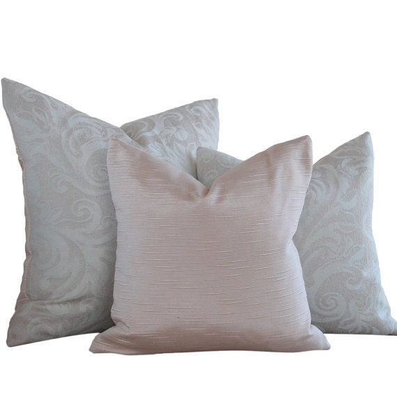 Decorative Pillow Cover 14x14 Jacquard Scrolls with