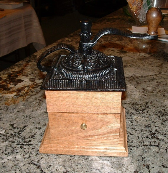 Coffee Grinder/Mill, Handcrafted