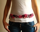 Crochet Fresh and Pink and putple Belt with Circles - Suitable to every size - S, M, L, XL