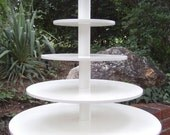 5 Tier Round Extra Large Custom Made Cupcake Stand.  Holds up to 203 Cupcakes.