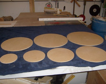 "1/2"" Thick Round Cake Boards.  Standard and Custom Sizes Available (Starting at 2.84 each)"