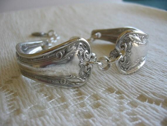 Vintage Silver Spoon Handle Cuff Bracelet
