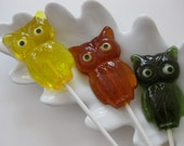 Fall Owl lollipops 1/2 dozen