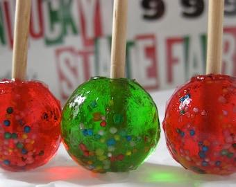 Candy Apple Lollipops 12 pieces