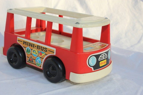 1969 Fisher Price Little People Mini Bus