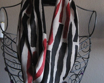 Urban abstract print Infinity Scarf