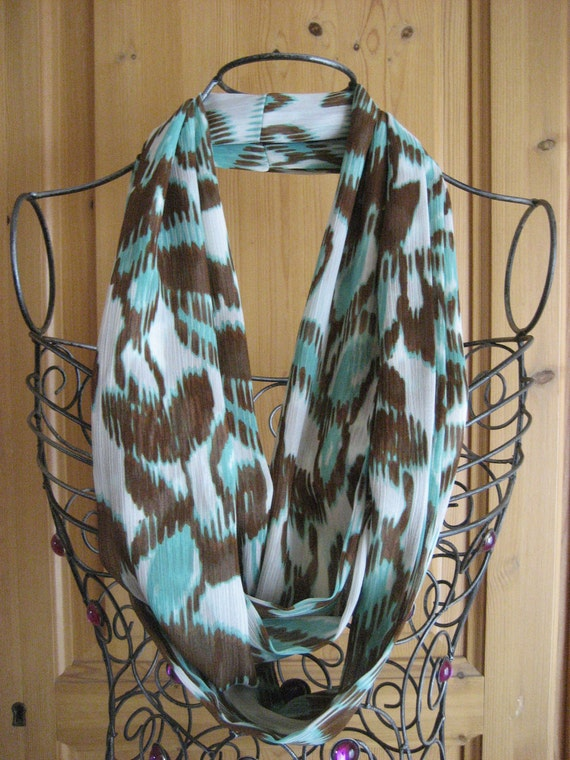 Rustic Floral Infinity Scarf