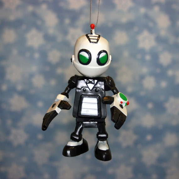 Sony Playstation PS2 PS3 Clank Robot Christmas Ornament