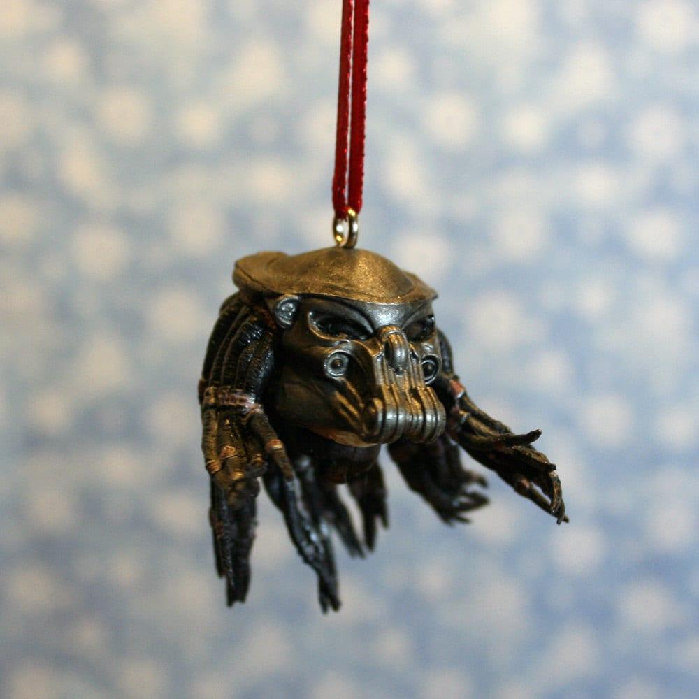 Predator head christmas ornament by regeekery on etsy