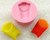 Kawaii French Fries Flexible Mini Mold/Mould (21mm) for Crafts, Jewelry, Scrapbooking,  (resin,  pmc,  polymer clay, ) (110)
