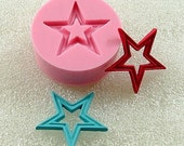 Vintage Open Star Flexible Mold/Mould (21mm) for Crafts, Jewelry, Scrapbooking  (resin, paper,  pmc, polymer clay) (138)