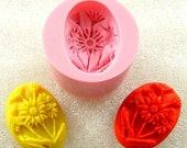 Flowe Cameo Flexible Silicone Mold  Mould Crafts, Jewelry, Resin, PMC, Scrapbooking, Polymer Clay, Push Mold (113)