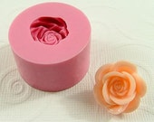 Rose Flower Flexible Mini Mold/Mould (22mm) for Crafts, Jewelry, Scrapbooking (resin, pmc, polymer clay) (161)