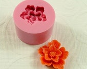 Mold Sakura Flower Cabochon Flower  Mould (22mm) fondant, chocolate, candy, resin,  pmc, polymer clay) (155)