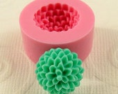 Pom Pom Chrissy Mum Cabochon Flexible Silicone Mold/Mould (13mm) for Crafts, Jewelry, Scrapbooking, (resin, paper,  pmc, polymer clay) (211)