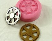 Steampunk Gear Silicone Mold/Mould (23mm) for Fondant, Chocolate, Resin, Polymer Clay,   (250)