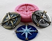 Nautical Silicone Mold Compass Resin Polymer Clay PMC Flexible Jewelry mold mould (282)