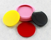 Circle Disk 1.5 inch Flexible Silicone Mold Mould Jewlery Mold, Resin Mold, Polymer Clay, Wax, Soap, PMC (278)