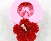 Large Hibiscus Flower Silicone Mold Mould Resin Polymer Clay Jewelry Pendant Soap Mold (304)