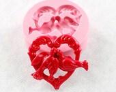 Love Birds Doves Heart Mold Wedding Mould Silicone Mold (307)