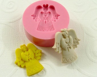 Angel Flexible Mini Mold/Mould (25mm) for Crafts, Jewelry, Scrapbooking (resin, paper,  pmc,  polymer clay) (118)