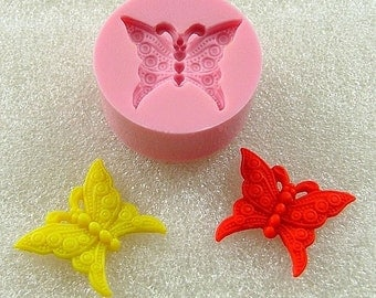 Butterfly Flexible Mini Mold/Mould (21mm) for Crafts, Jewelry, Scrapbooking (wax, soap, resin, paper,  pmc, polymer clay) (115)