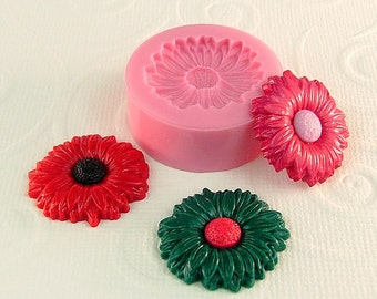 Flower Mold Resin, Polymer Clay Flexible Mold/Mould (23mm)for Crafts, Jewelry, Scrapbooking  (253)