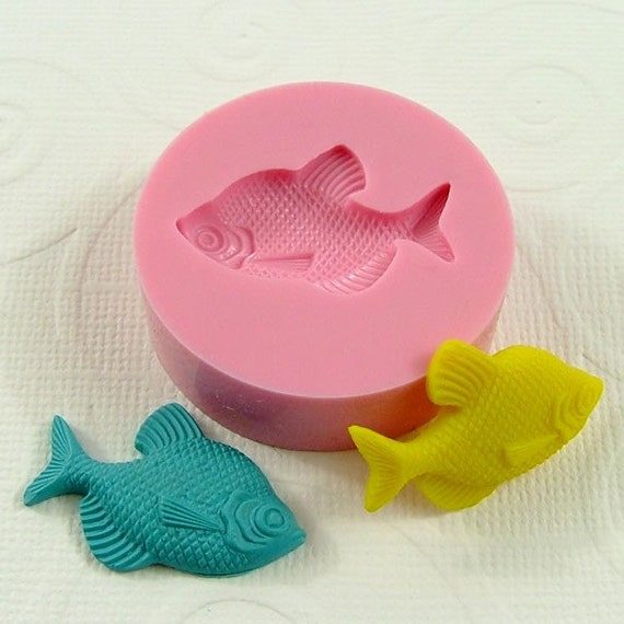 Fish Flexible Mini Mold/Mould (27mm) for Crafts, Jewelry, Scrapbooking  (resin,  pmc,  polymer clay) (151)