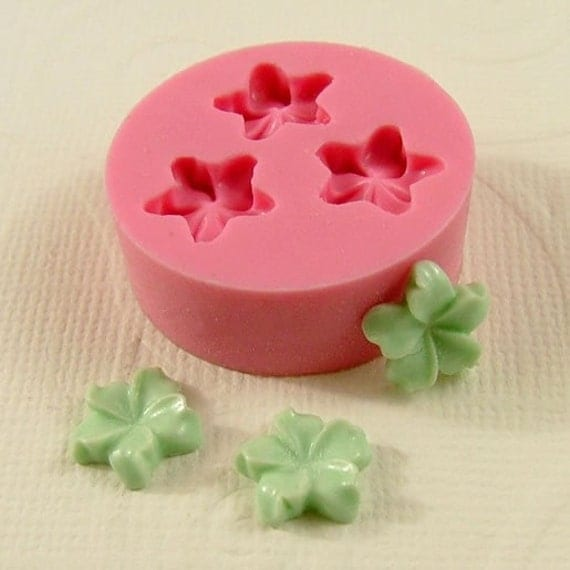 Jasmine Flower Cabochon  Flexible Mold/Mould (10mm) for Crafts, Jewelry, Scrapbooking, (wax, soap, resin, paper,  pmc, polymer clay) (208)