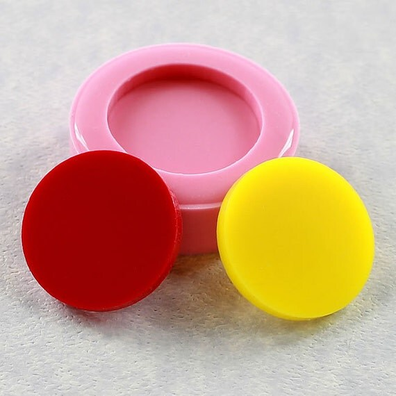 Circle Disk 1 inch Flexible Silicone Mold Mould Jewlery Mold, Resin Mold, Polymer Clay, Wax, Soap, PMC (279)