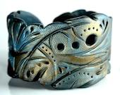 River So Deep - Handmade Cuff Bracelet - Unique Wristband