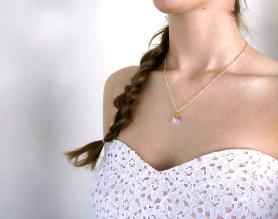 SALE Opal, Pearl, and Gold Cluster Necklace