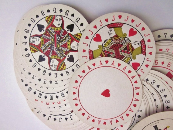Vintage Style Playing Cards Vintage Playing Cards Round