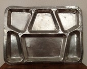 SALE Two Metal Meal Tray.